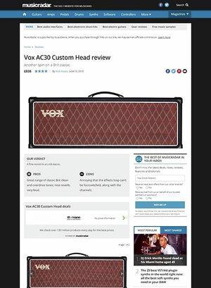 MusicRadar.com Vox AC30 Custom Head