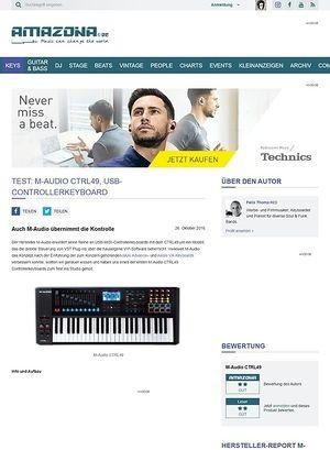 Amazona.de Test: M-Audio CTRL49, USB-Controllerkeyboard