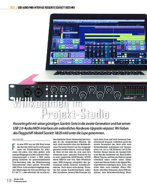 Professional Audio Focusrite Scarlett 18i20 2nd Gen